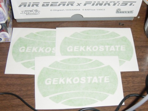 gekkostate sticker sheet