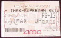 superman ticket stub